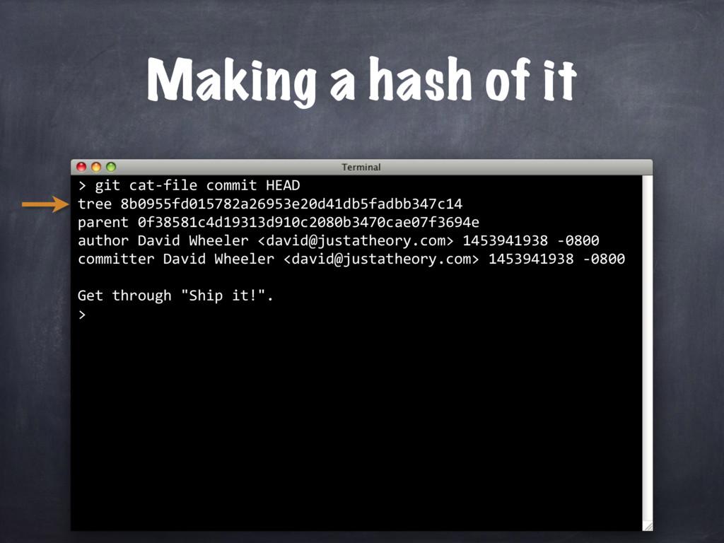 > git cat-file commit HEAD tree 8b0955fd015782a...