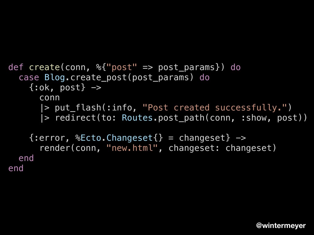 "def create(conn, %{""post"" => post_params}) do c..."