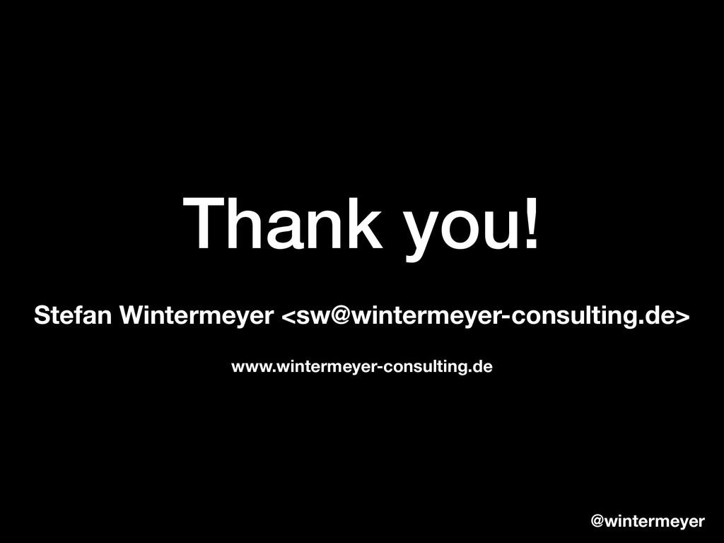 Thank you! Stefan Wintermeyer <sw@wintermeyer-c...