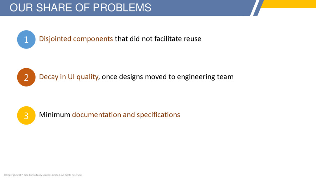 Disjointed components that did not facilitate r...