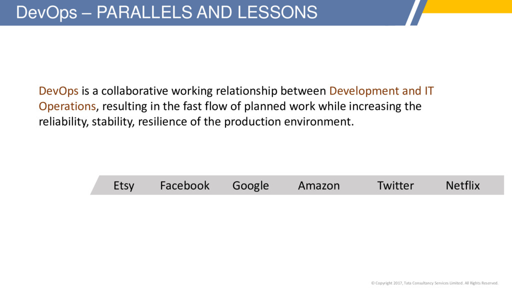 DevOps is a collaborative working relationship ...