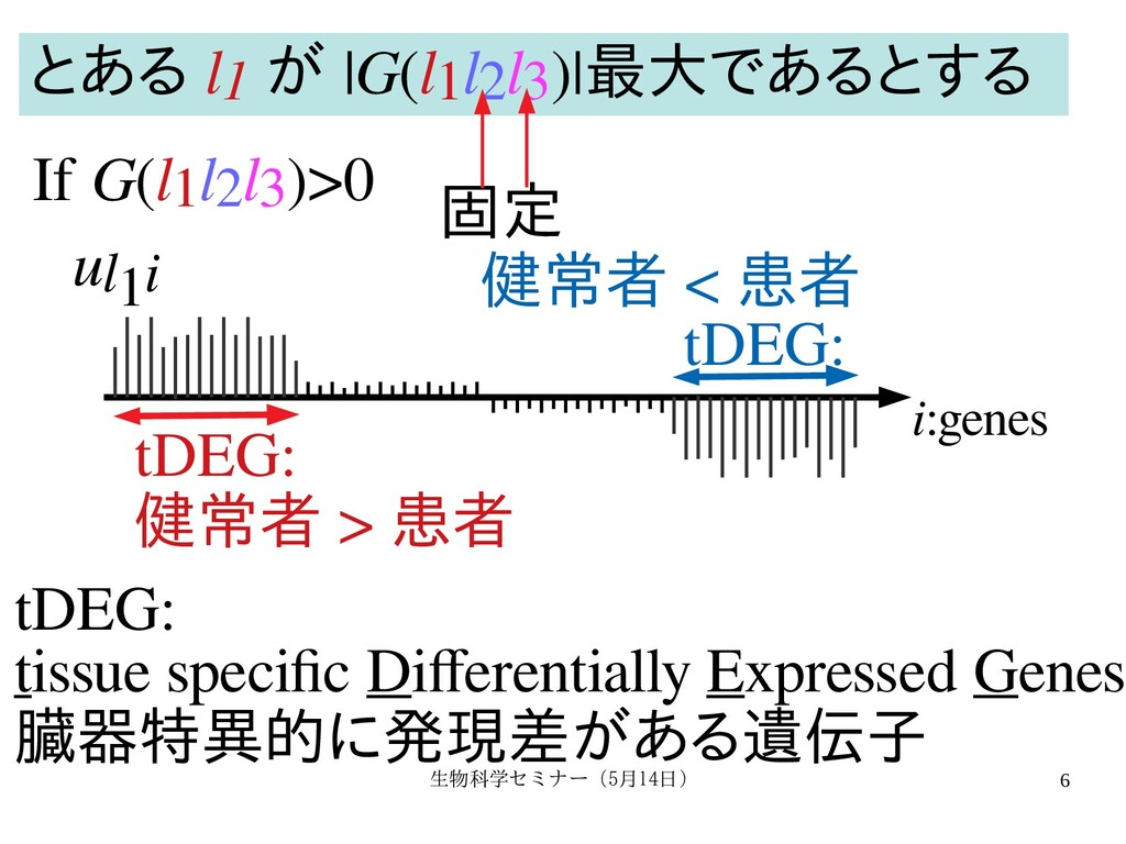 生物科学セミナー(5月セミナー(5月14日)月14日) 6 i:genes ul1i tDEG...