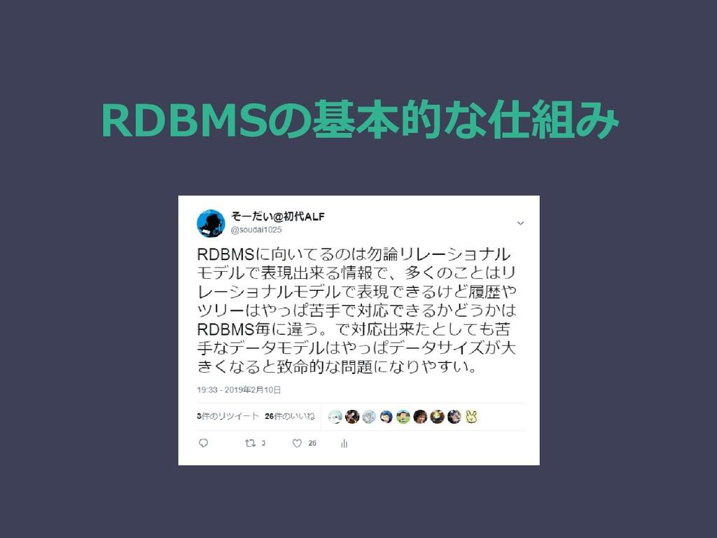 RDBMSの基本的な仕組み