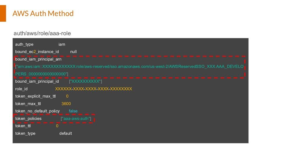AWS Auth Method auth_type iam bound_ec2_instanc...