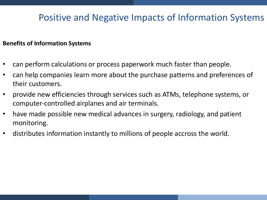 Positive and Negative Impacts of Information Sy...