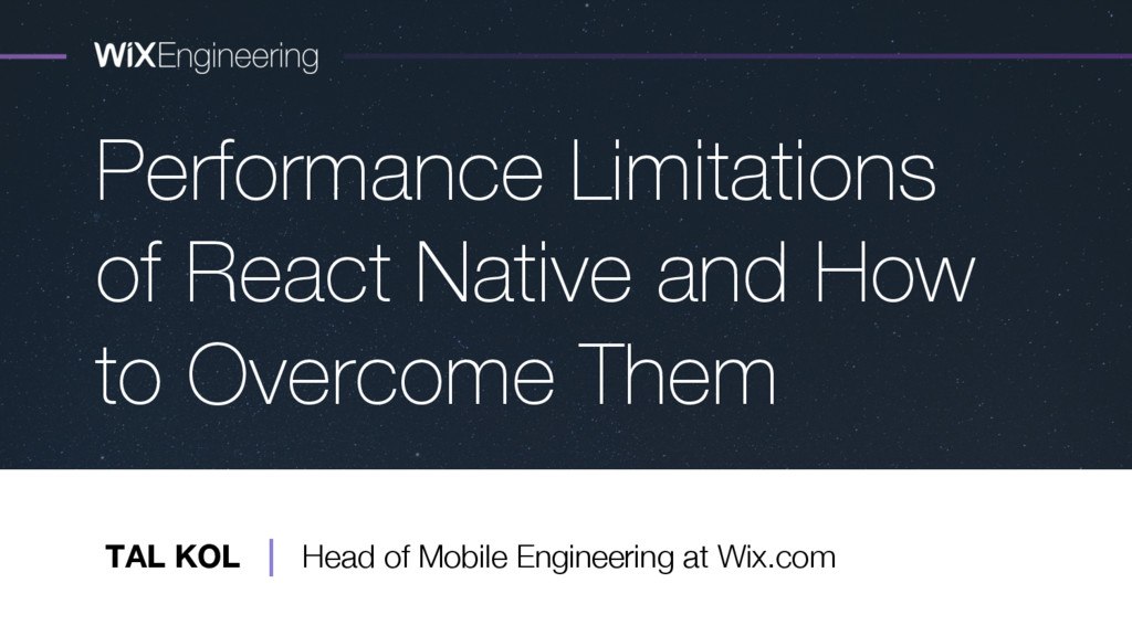 Performance Limitations of React Native and How...