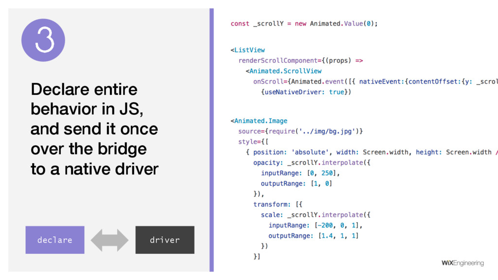 Declare entire behavior in JS, and send it once...