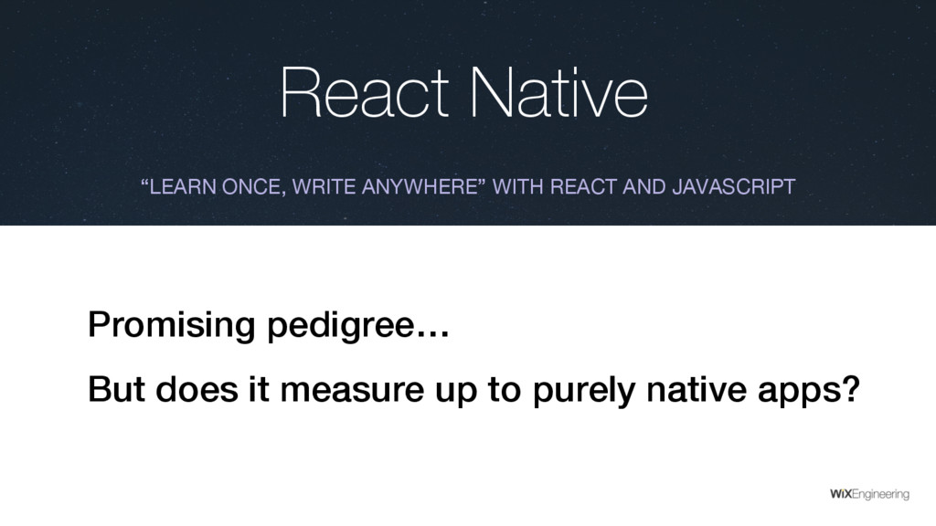 """React Native """"LEARN ONCE, WRITE ANYWHERE"""" WITH ..."""