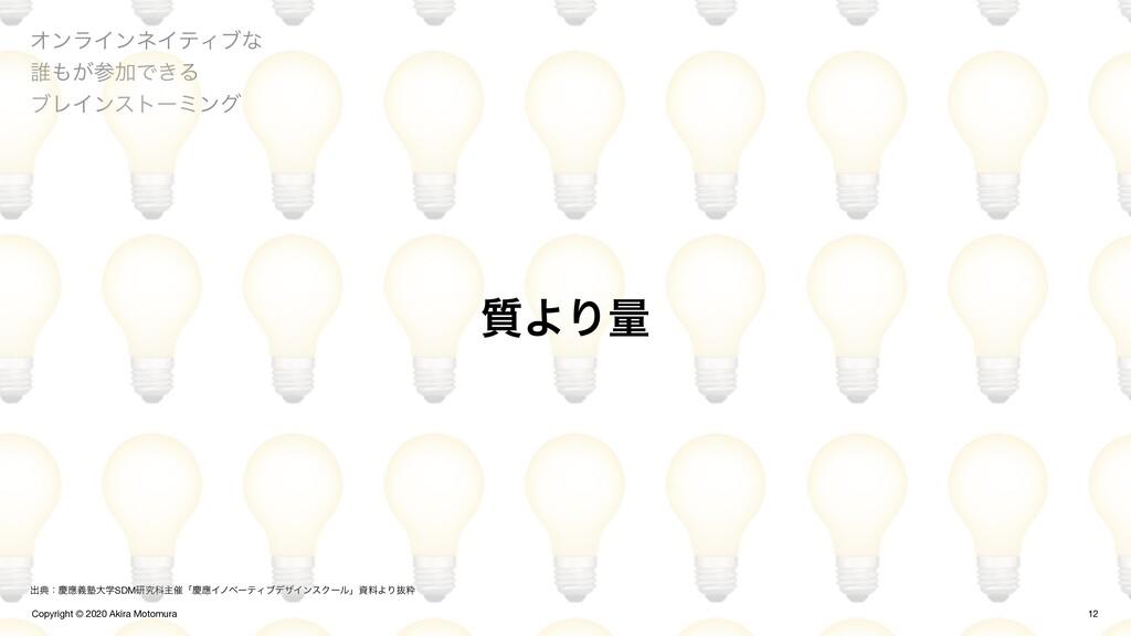 Copyright © 2020 Akira Motomura  12 ΦϯϥΠϯωΠςΟϒͳ...