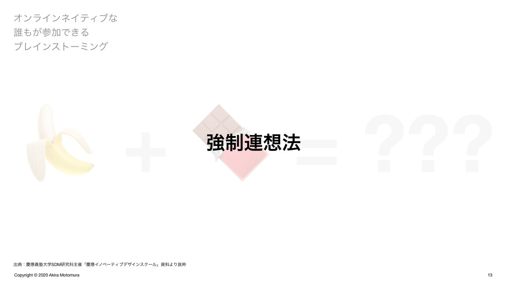 Copyright © 2020 Akira Motomura  +  = ??? 13 Φϯ...