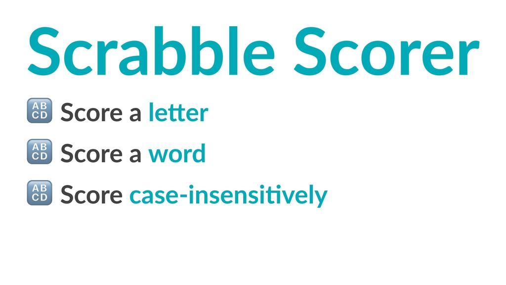 Scrabble Scorer ! Score a le)er ! Score a word ...