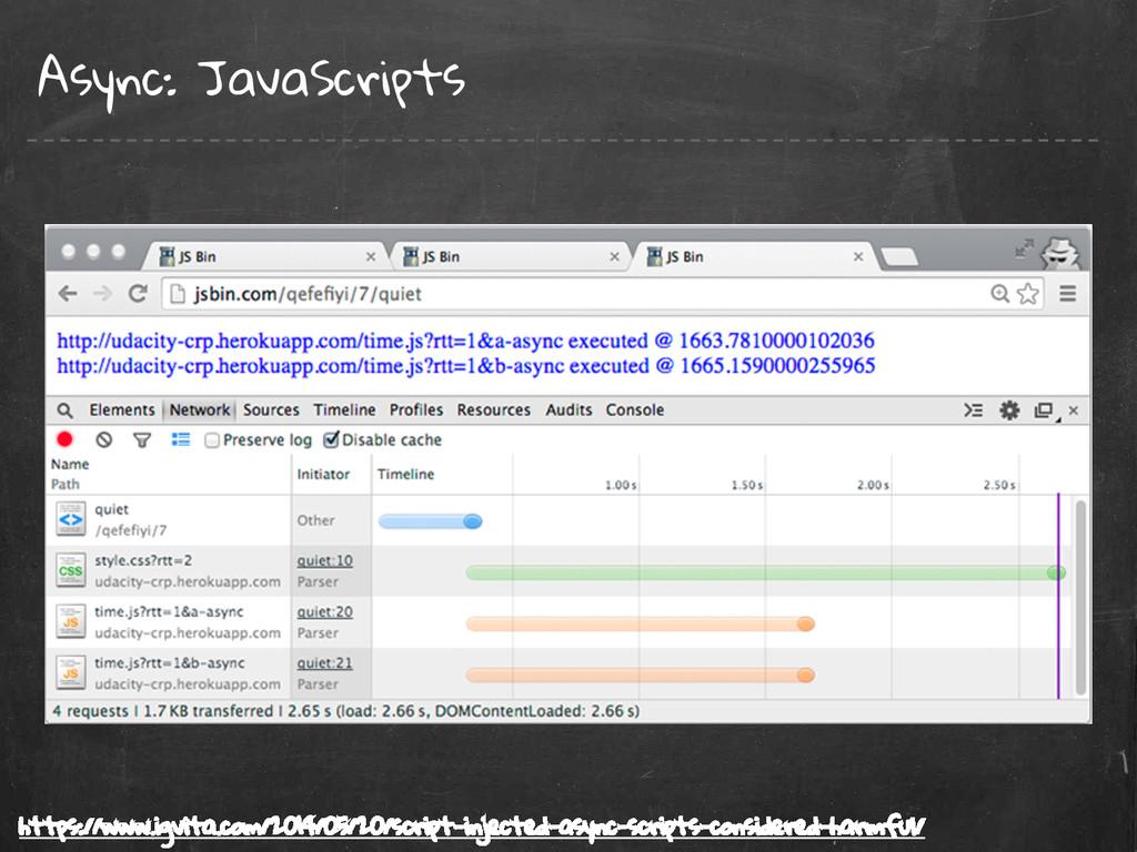 Async: JavaScripts https://www.igvita.com/2014/...