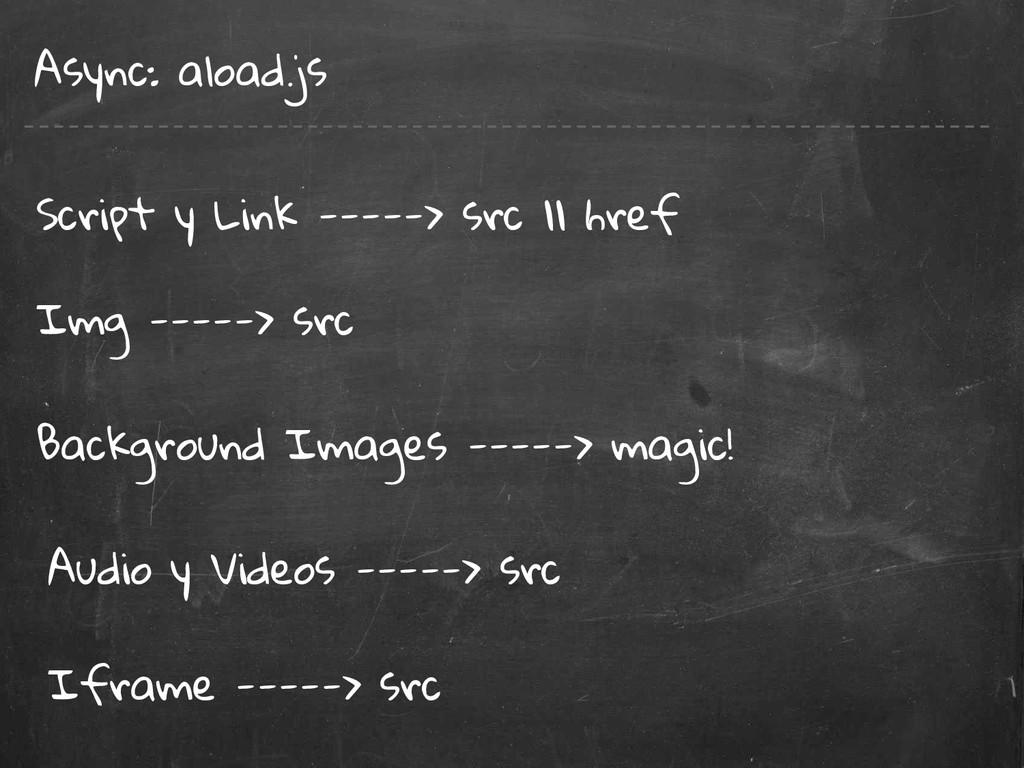 Async: aload.js Img -----> src Script y Link --...