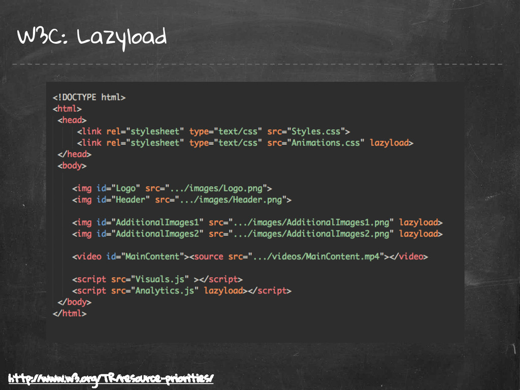 W3C: Lazyload http://www.w3.org/TR/resource-pri...