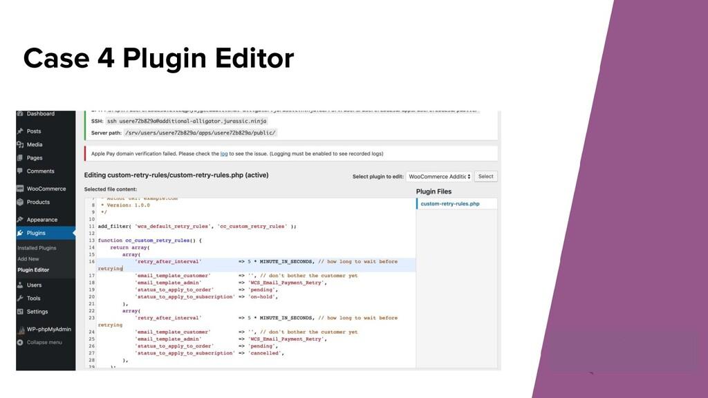 Case 4 Plugin Editor