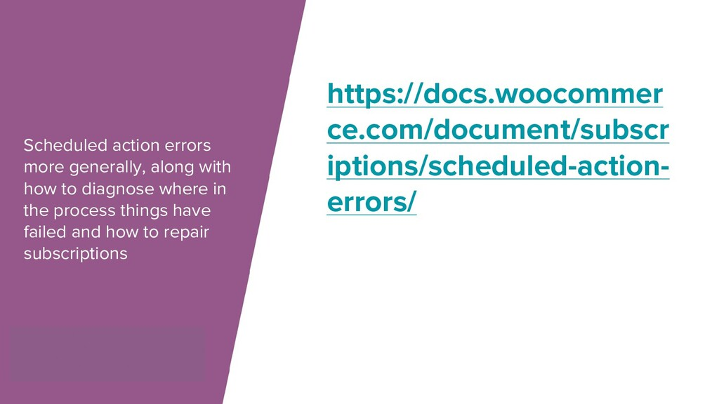 Scheduled action errors more generally, along w...