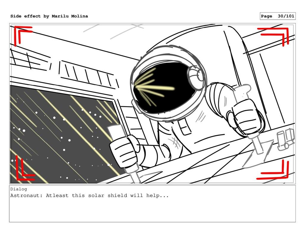 Dialog Astronaut: Atleast this solar shield wil...