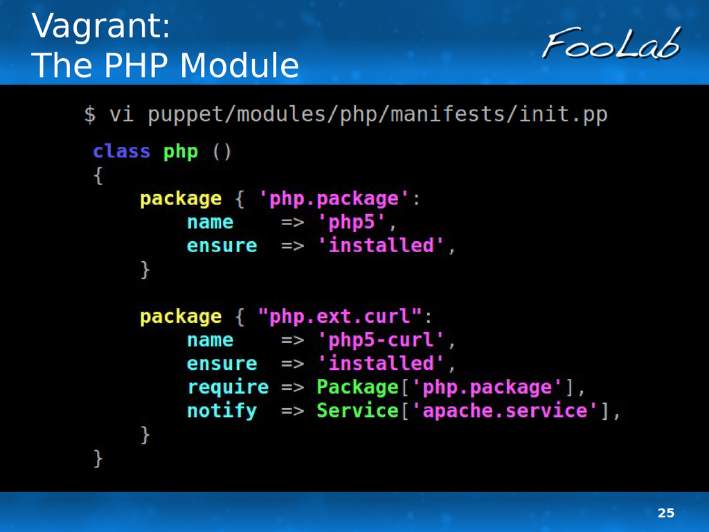 25 Vagrant: The PHP Module