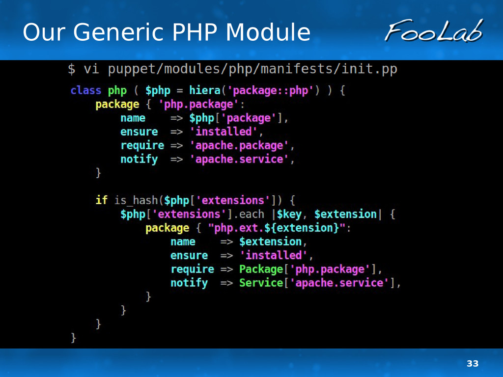 33 Our Generic PHP Module
