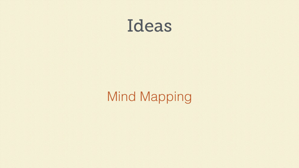 Ideas Mind Mapping