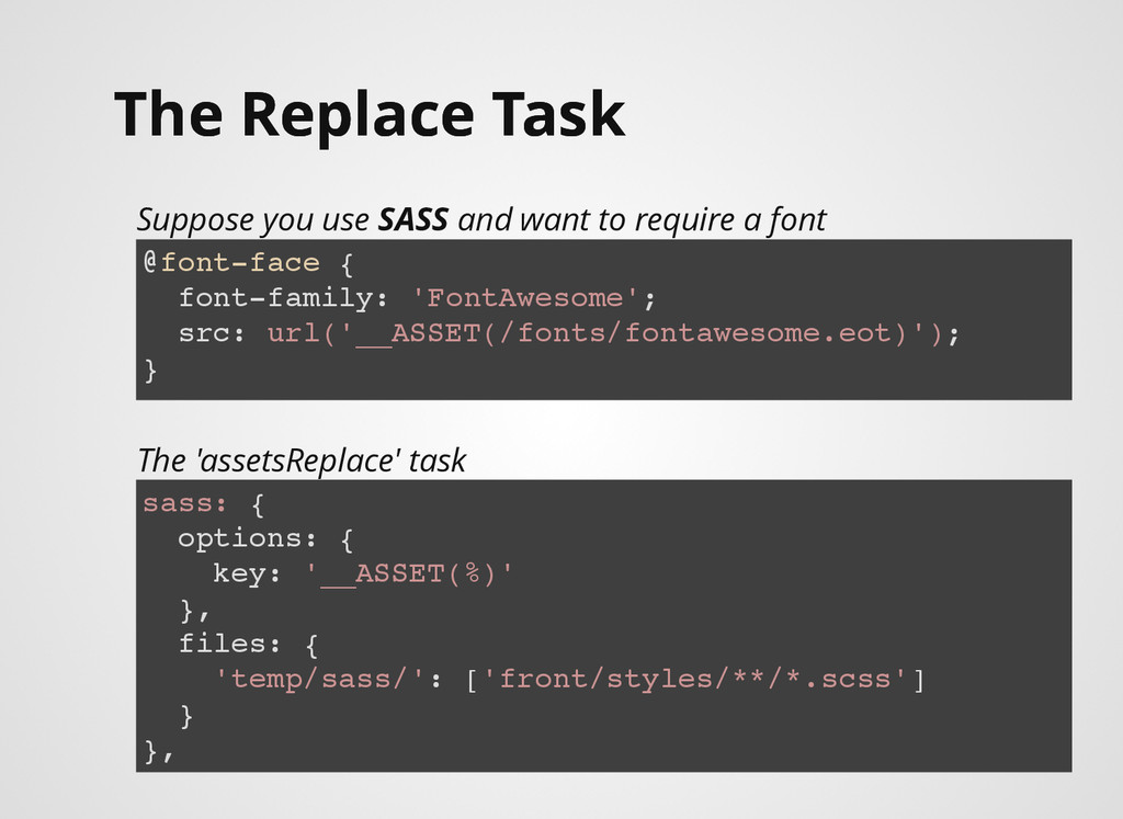 The Replace Task The Replace Task Suppose you u...