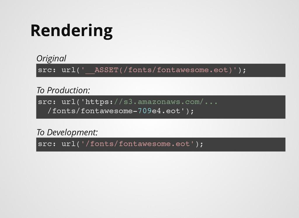Rendering Rendering Original src: url('__ASSET(...
