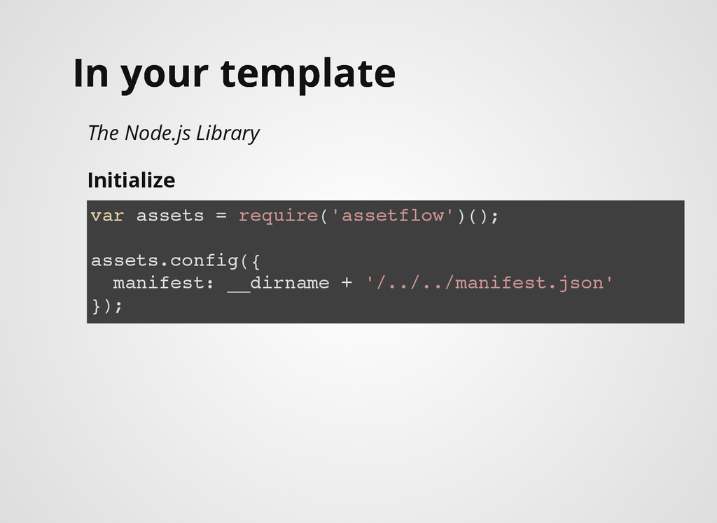 In your template In your template The Node.js L...