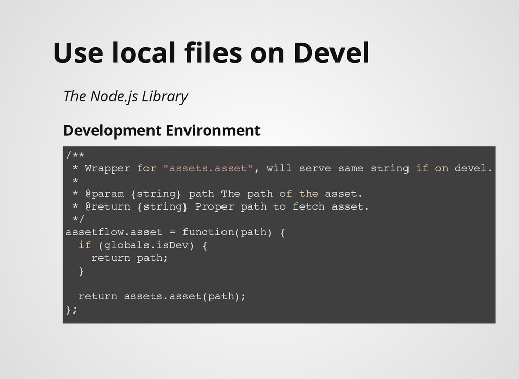 Use local files on Devel Use local files on Devel...