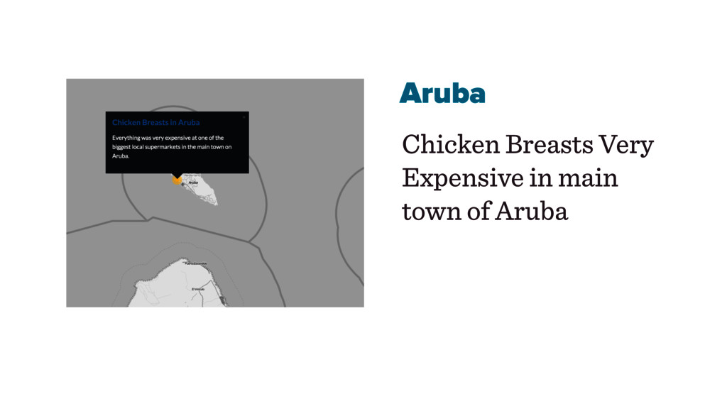 Aruba Chicken Breasts Very Expensive in main to...