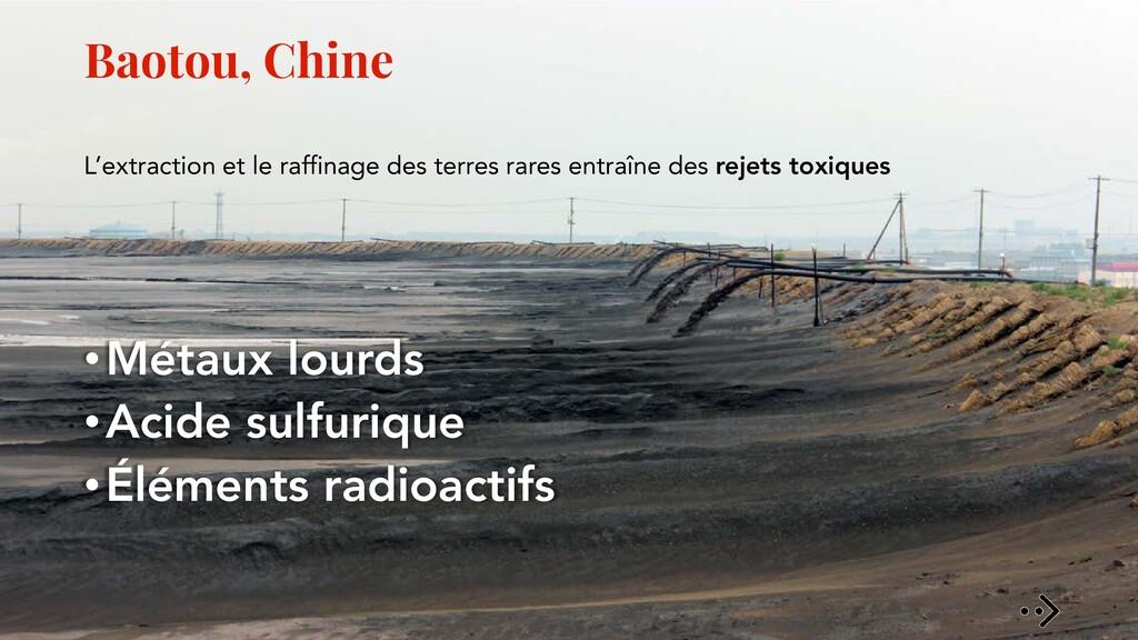 Baotou, Chine L'extraction et le raffinage des ...