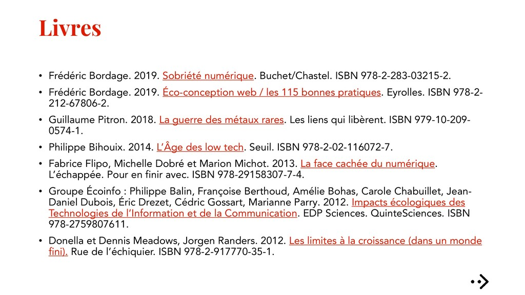 Livres • Frédéric Bordage. 2019. Sobriété numér...