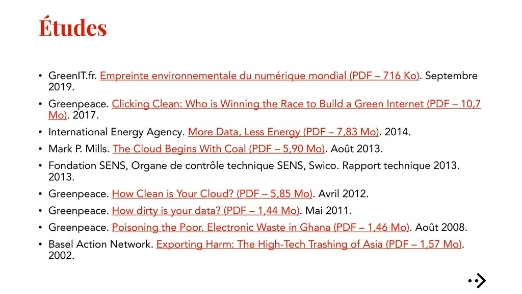 Études • GreenIT.fr. Empreinte environnementale...