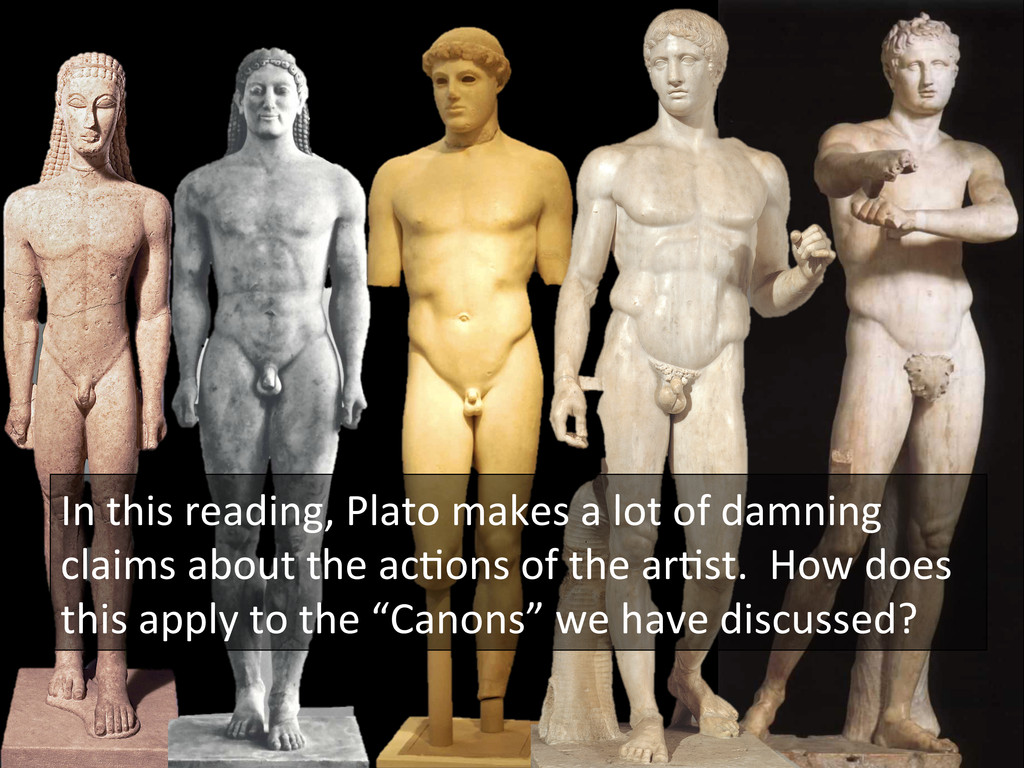 In this reading, Plato makes a...
