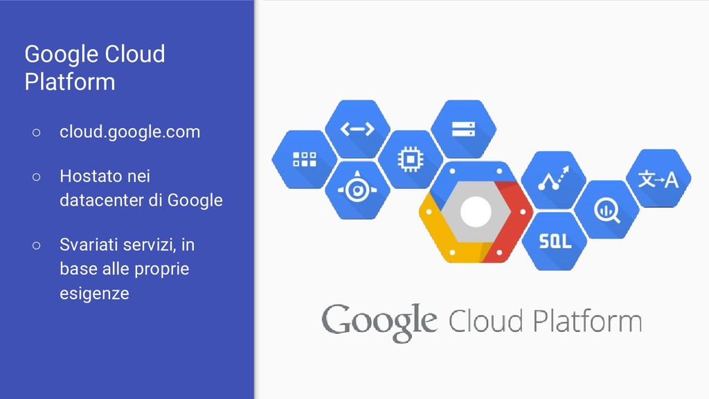 Google Cloud Platform ○ cloud.google.com ○ Host...