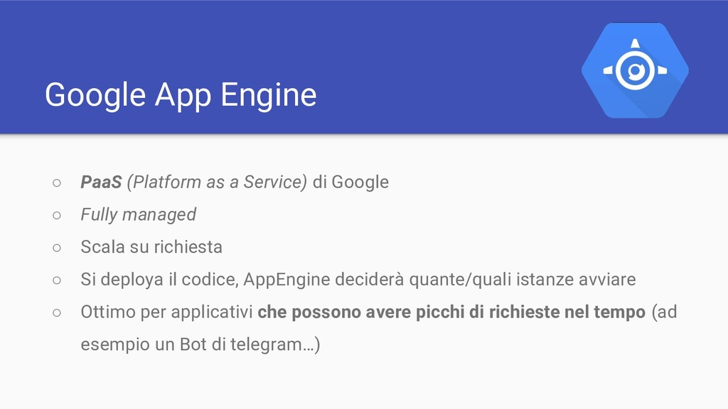 Google App Engine ○ PaaS (Platform as a Service...
