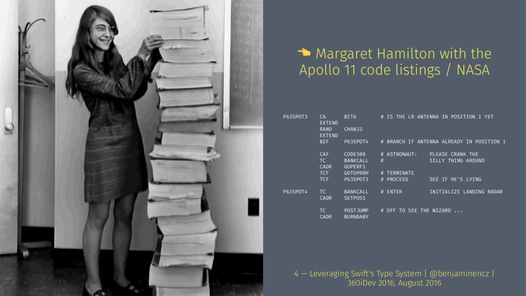 ! Margaret Hamilton with the Apollo 11 code lis...