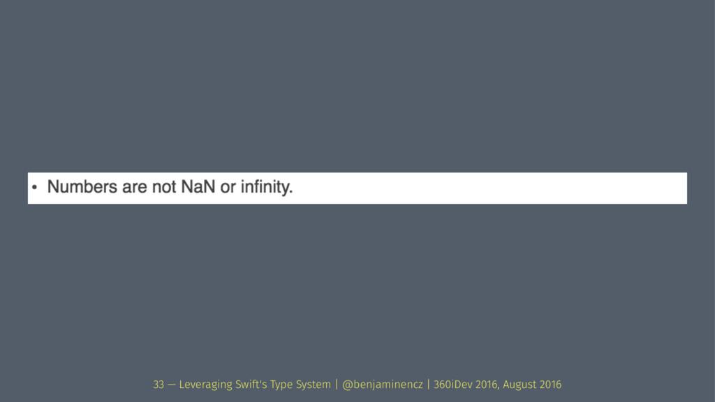33 — Leveraging Swift's Type System | @benjamin...