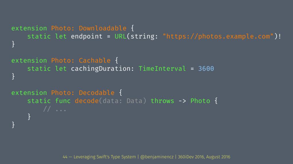 extension Photo: Downloadable { static let endp...