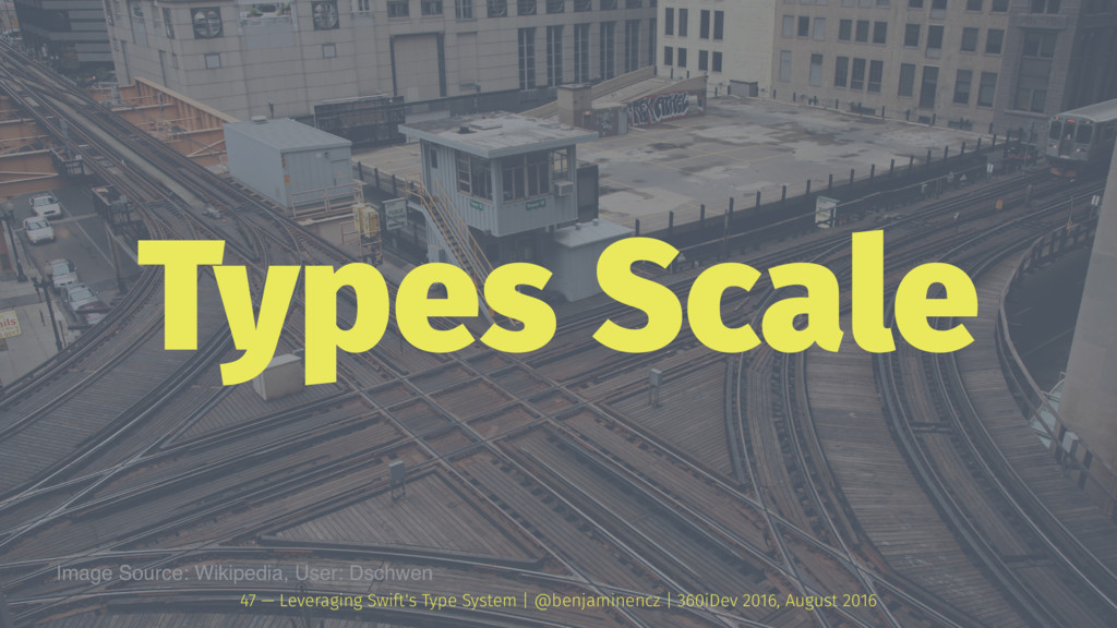 Types Scale 47 — Leveraging Swift's Type System...