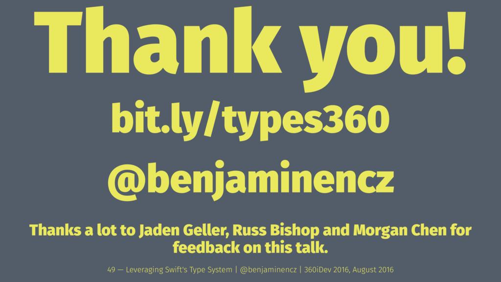 Thank you! bit.ly/types360 @benjaminencz Thanks...