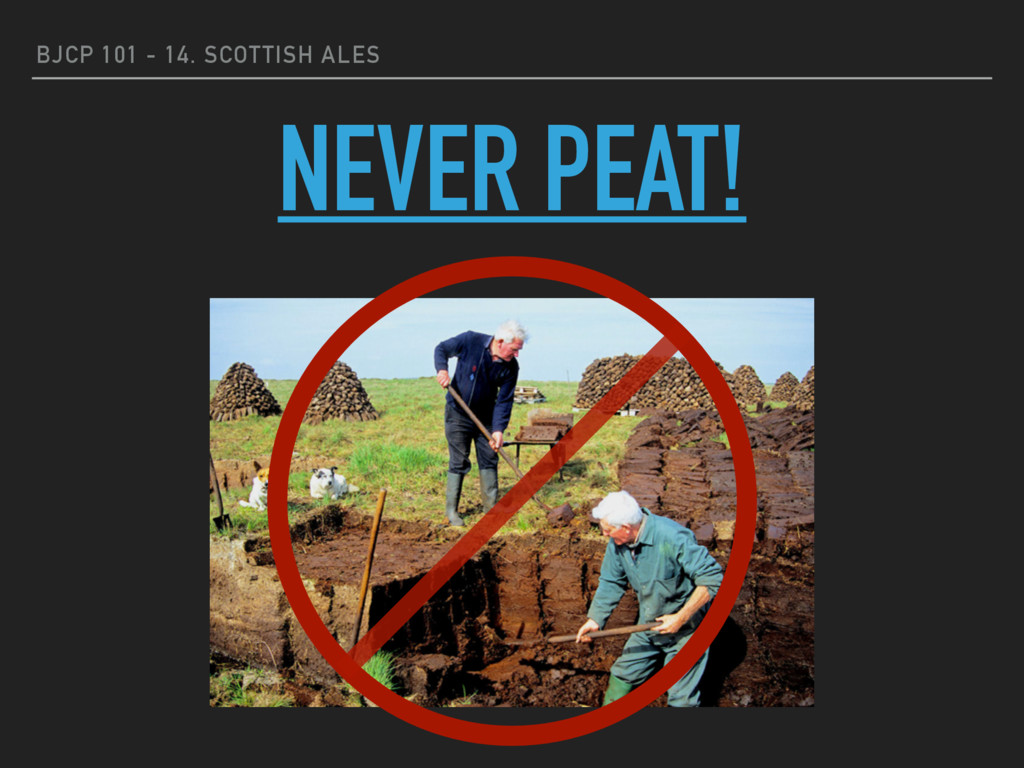 BJCP 101 - 14. SCOTTISH ALES NEVER PEAT!