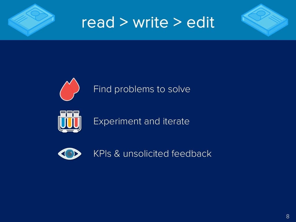 8 read > write > edit Find problems to solve Ex...