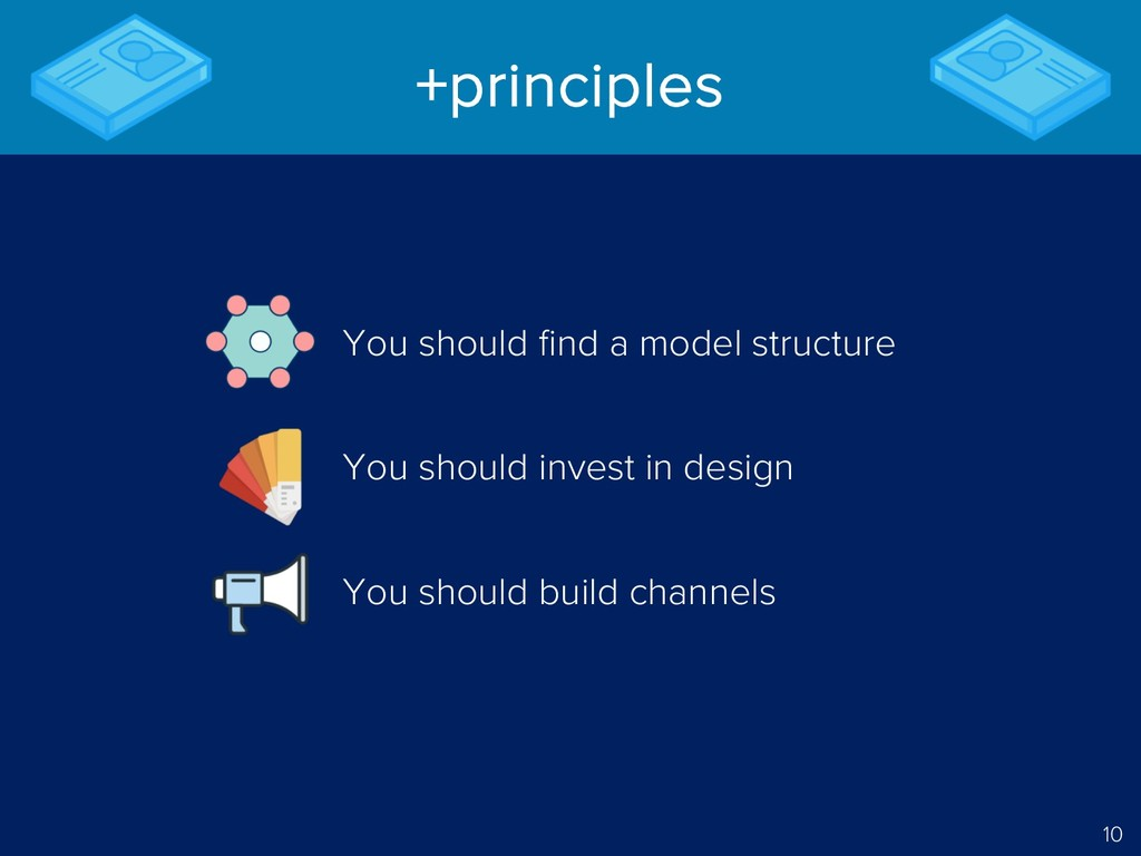 10 +principles You should find a model structur...