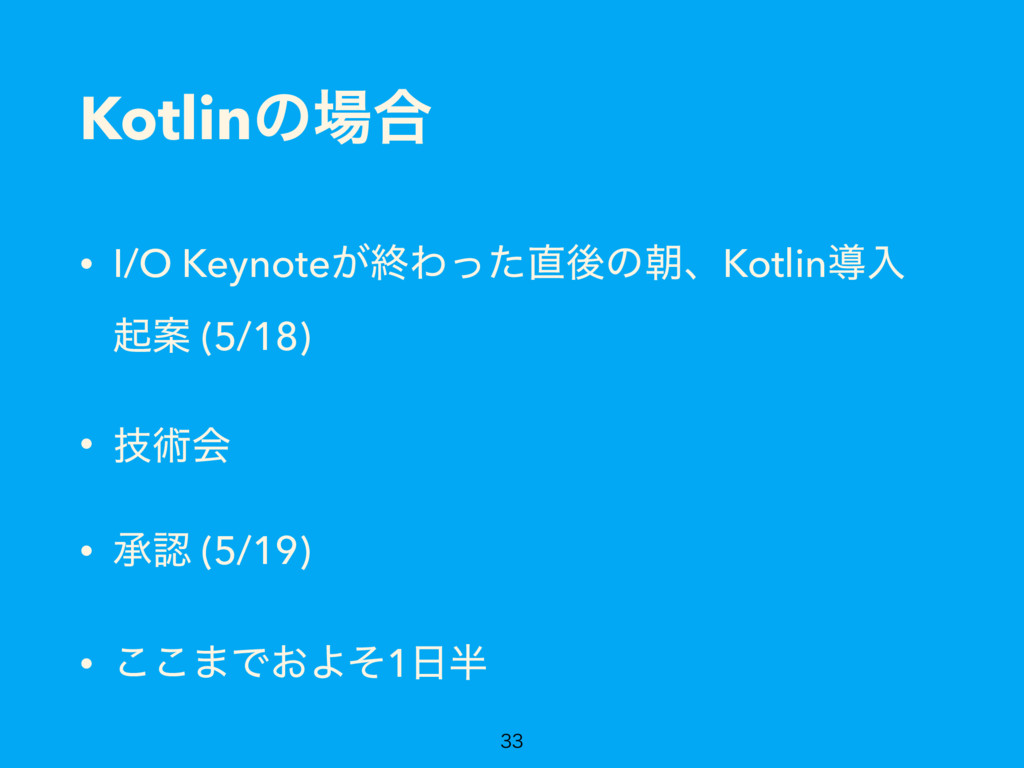 Kotlinͷ৔߹ • I/O Keynote͕ऴΘͬͨ௚ޙͷேɺKotlinಋೖ ىҊ (5...