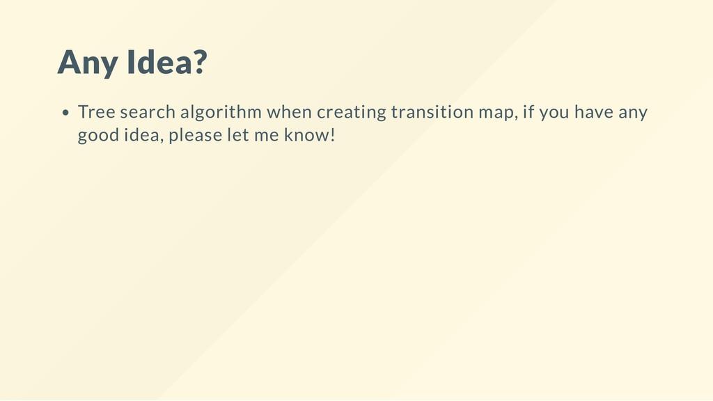 Any Idea? Tree search algorithm when creating t...