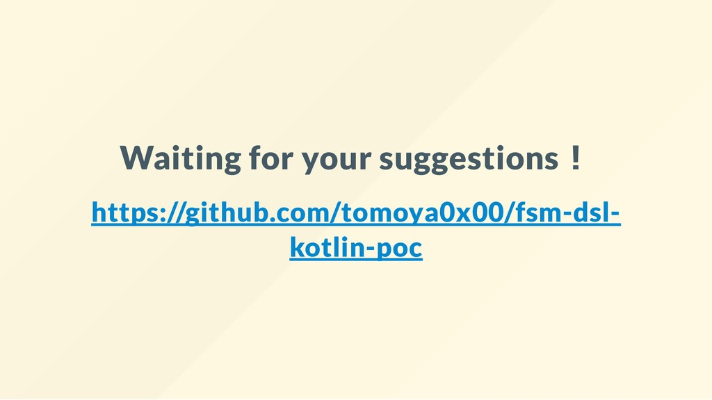 Waiting for your suggestions︕ https://github.co...
