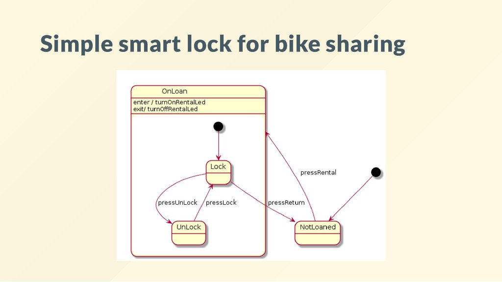 Simple smart lock for bike sharing