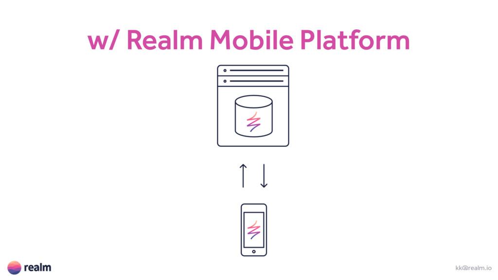 w/ Realm Mobile Platform kk@realm.io
