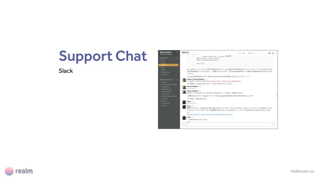Support Chat Slack kk@realm.io
