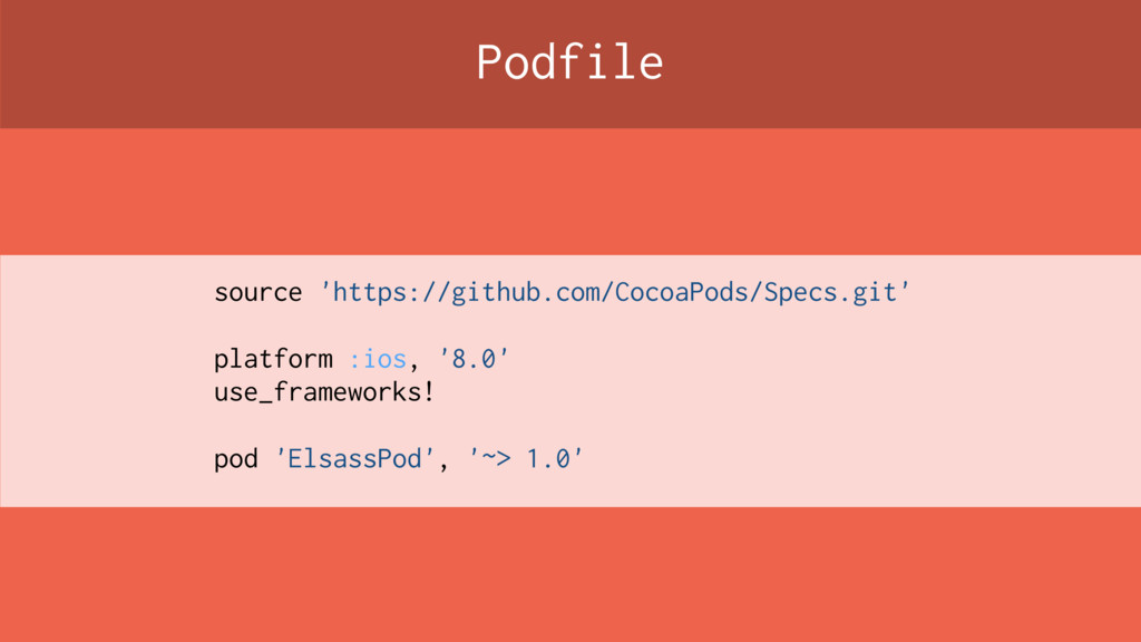 Podfile source 'https://github.com/CocoaPods/Sp...
